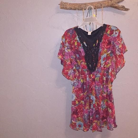 Fun & Flirt Dresses & Skirts - Fun&Flirt Multi Colored Dress